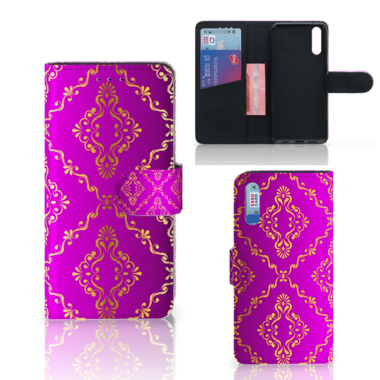 Wallet Case Huawei P20 Barok Roze