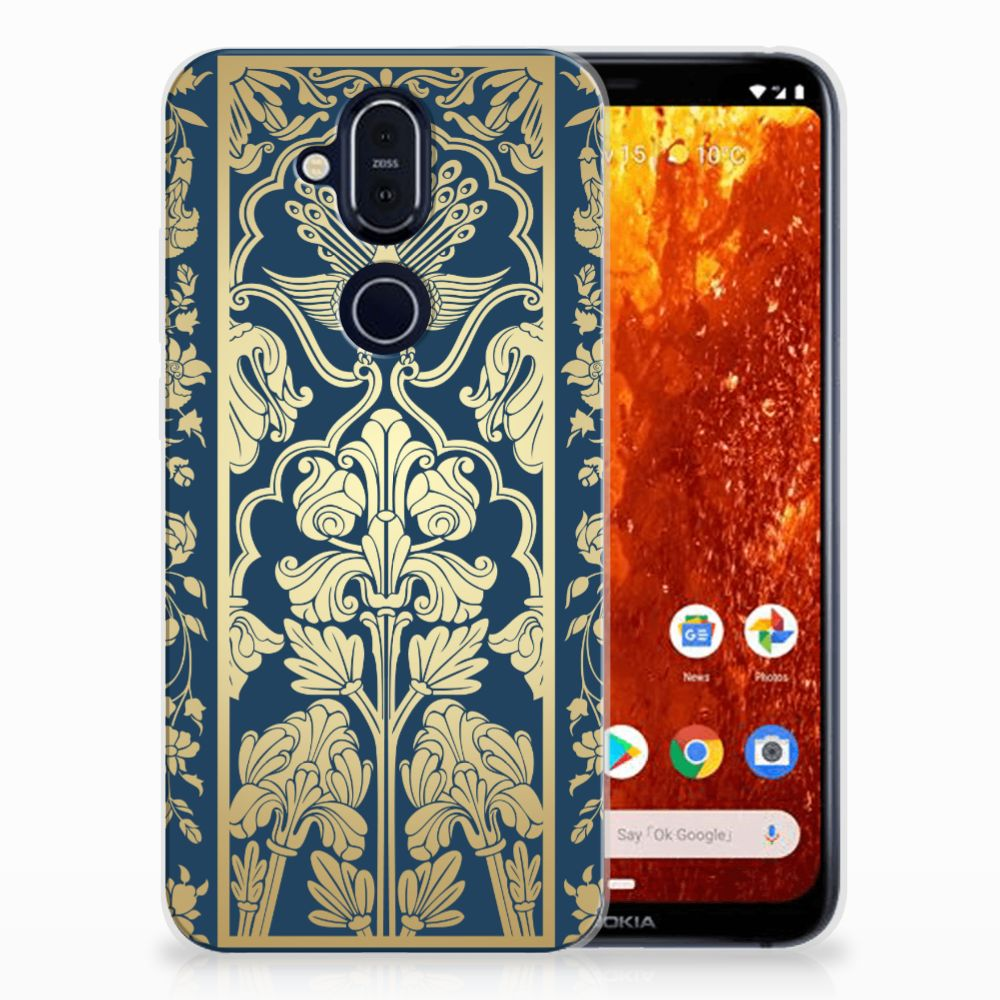 Nokia 8.1 TPU Case Golden Flowers