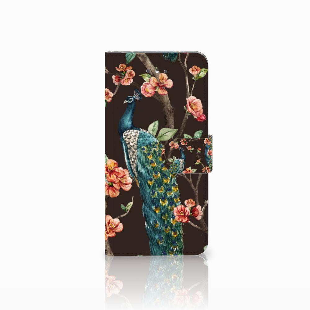 LG Nexus 5X Boekhoesje Design Pauw met Bloemen
