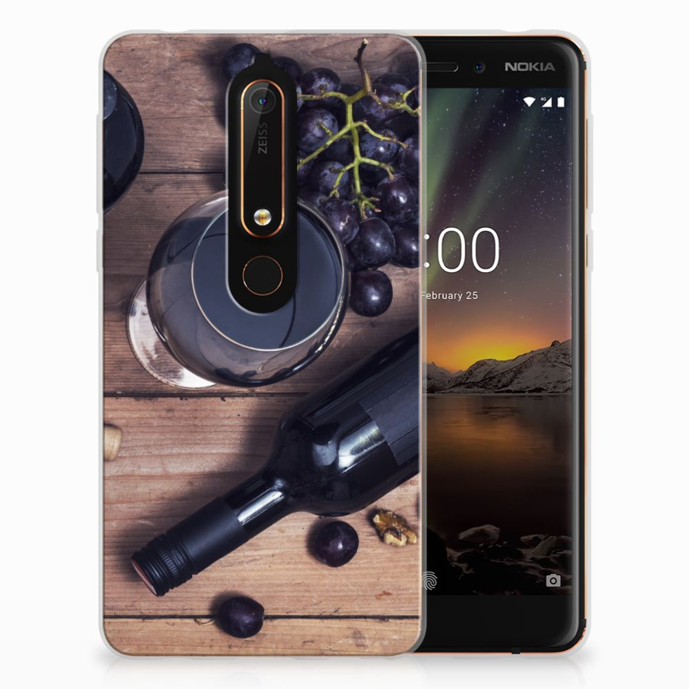 Nokia 6 (2018) Siliconen Case Wijn