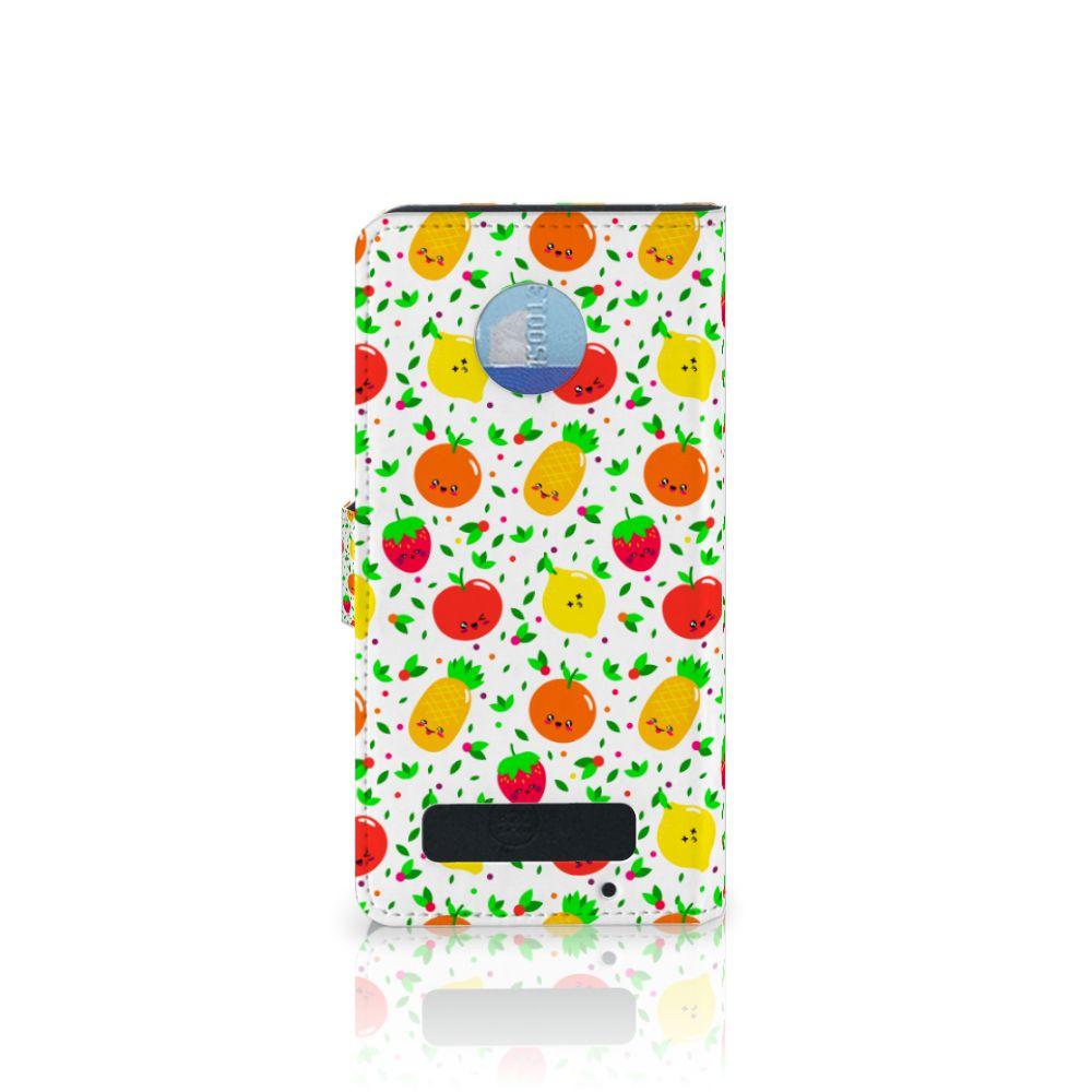 Motorola Moto Z Play Book Cover Fruits