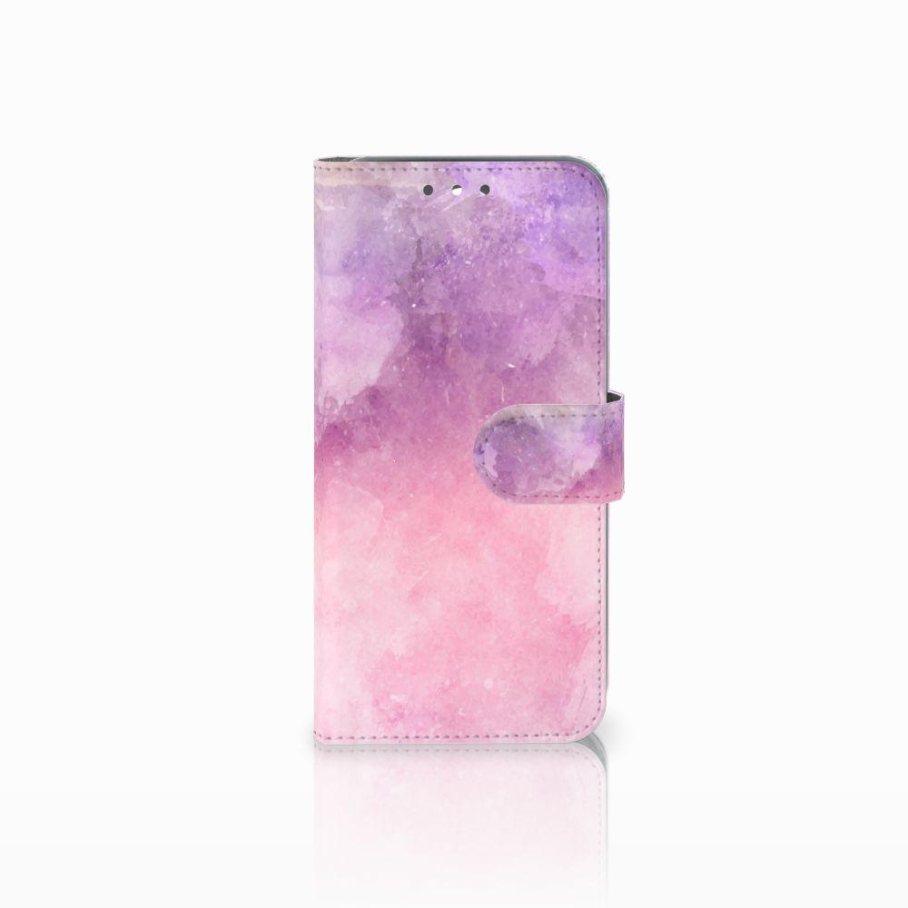 Wiko Wim Boekhoesje Design Pink Purple Paint