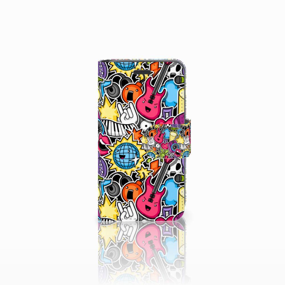 Nokia Lumia 520 Uniek Boekhoesje Punk Rock