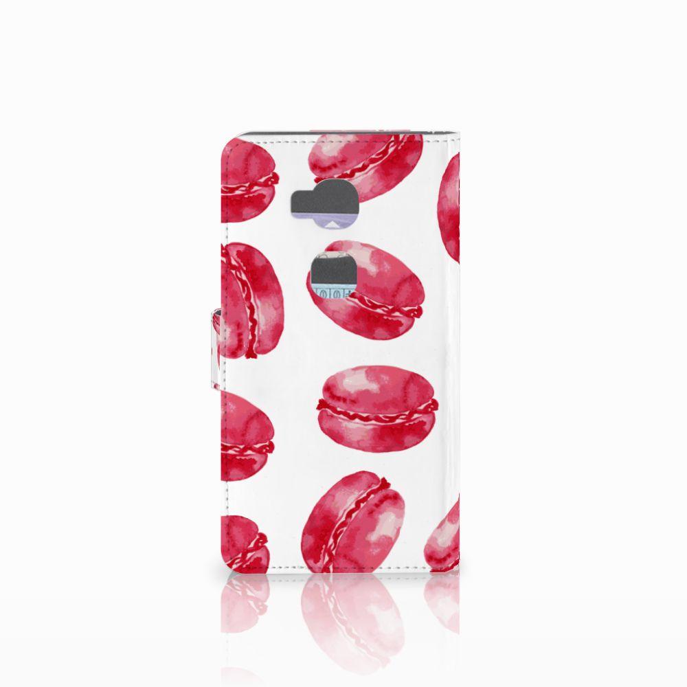 Huawei Honor 5X Book Cover Pink Macarons