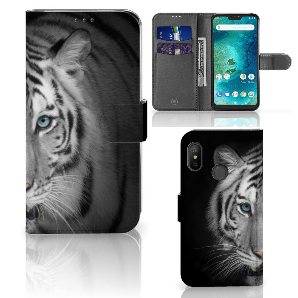 Xiaomi Mi A2 Lite Telefoonhoesje met Pasjes Tijger