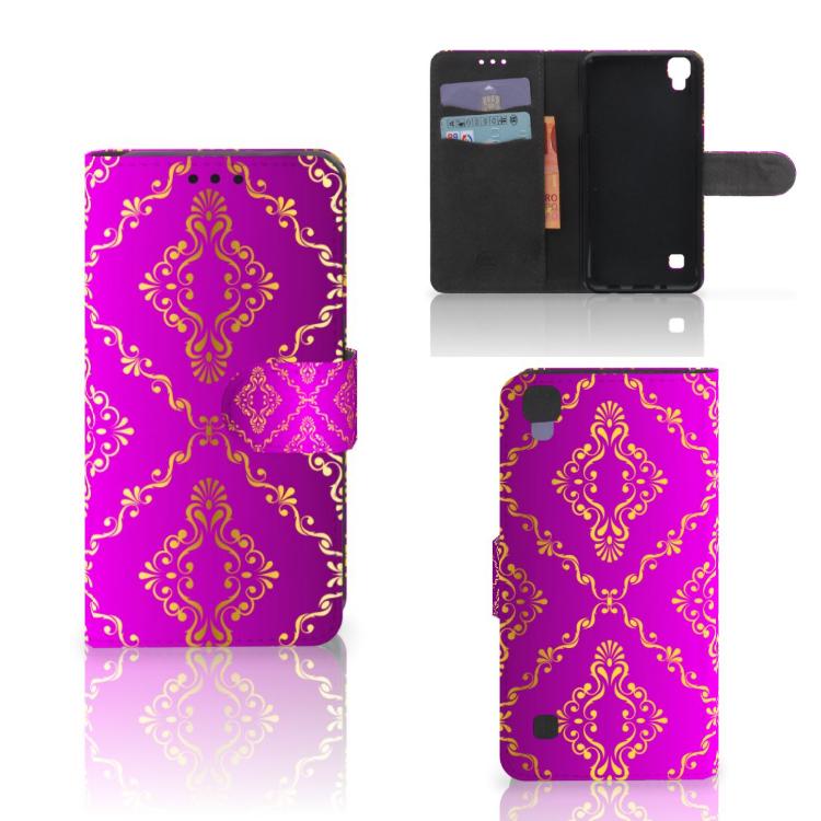 Wallet Case LG X Style Barok Roze