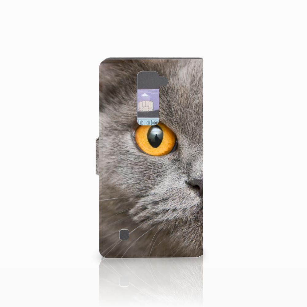 Telefoonhoesje met Pasjes LG K10 2015 Britse Korthaar