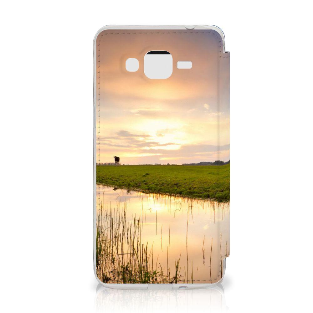 Samsung Galaxy Grand Prime Telefoonhoesje met Pasjes Koe