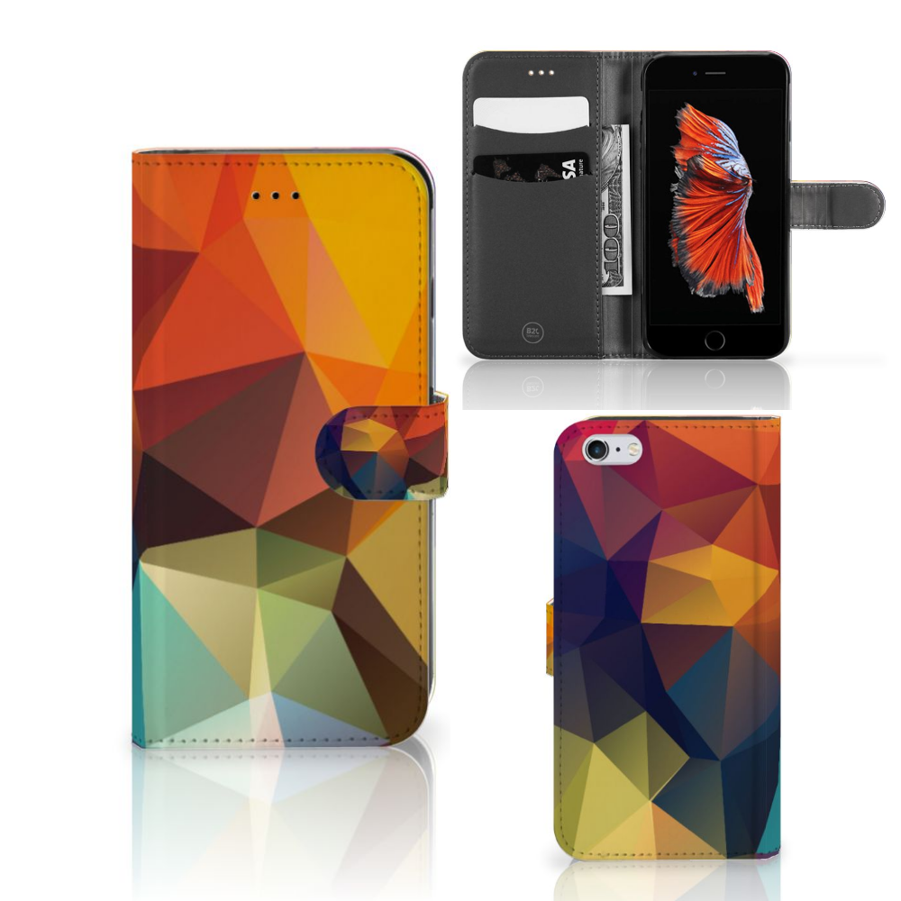 Apple iPhone 6 Plus | 6s Plus Bookcase Polygon Color