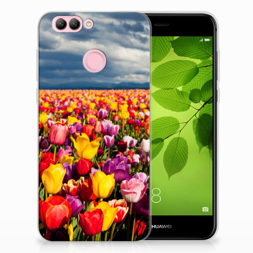 Huawei Nova 2 Uniek TPU Hoesje Tulpen