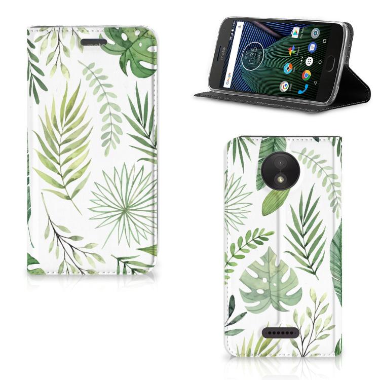 Motorola Moto C Plus Smart Cover Leaves