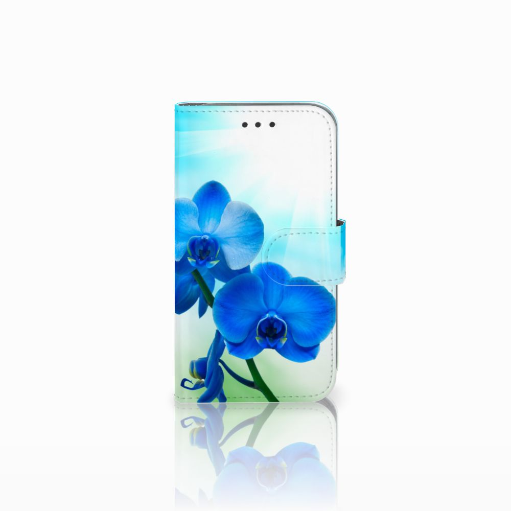 Samsung Galaxy Core Prime Boekhoesje Design Orchidee Blauw