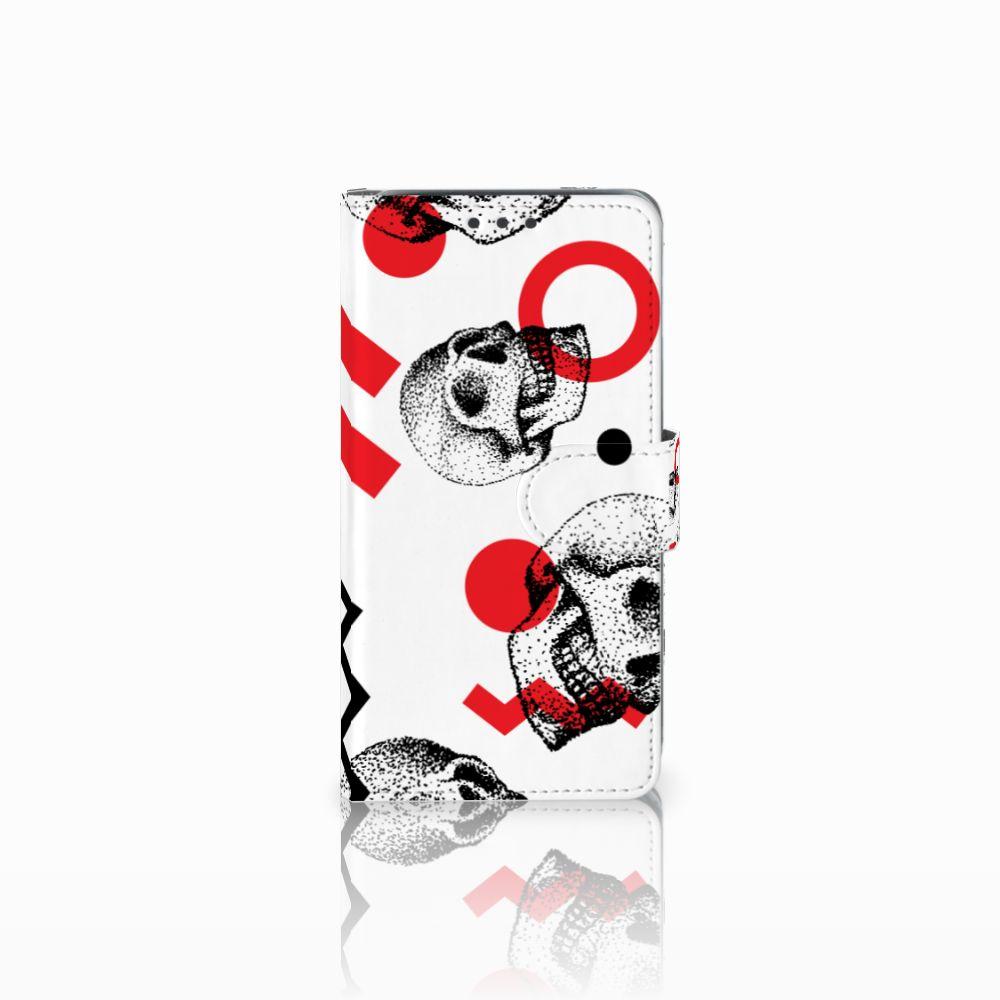 Telefoonhoesje met Naam Samsung Galaxy J5 (2015) Skull Red