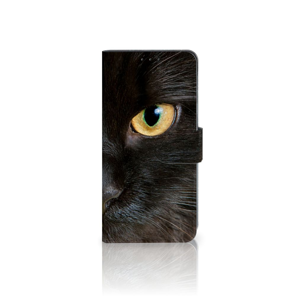 LG V40 Thinq Uniek Boekhoesje Zwarte Kat