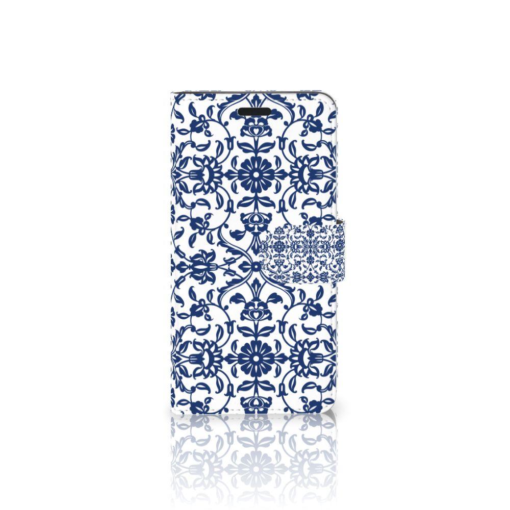 HTC 10 Uniek Boekhoesje Flower Blue