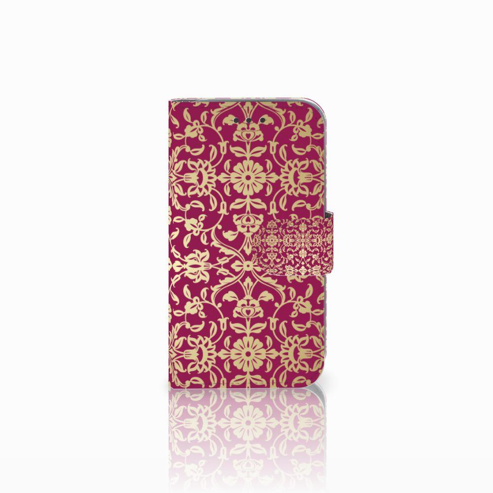 Wallet Case Samsung Galaxy Core Prime Barok Pink