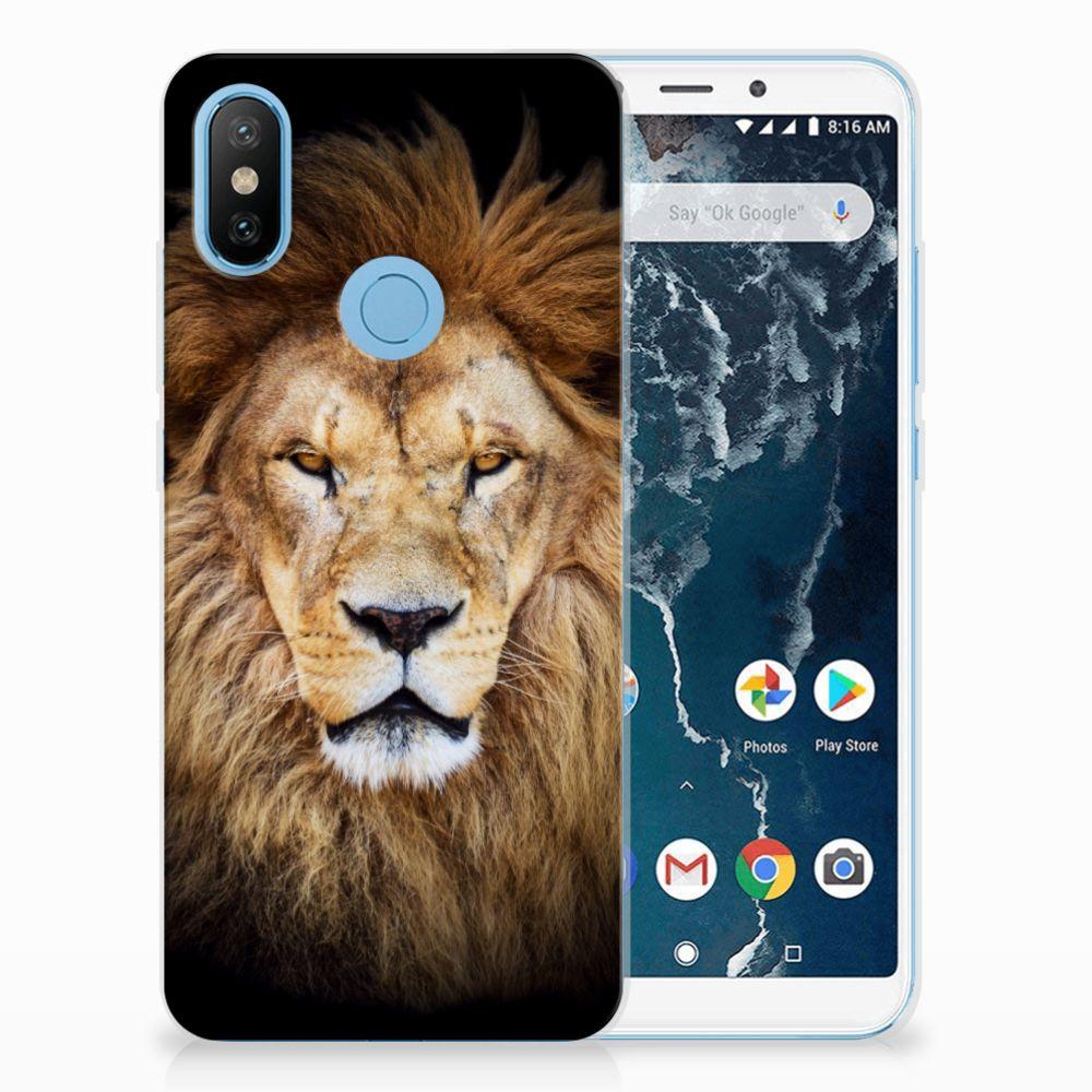 Xiaomi Mi A2 TPU Hoesje Design Leeuw