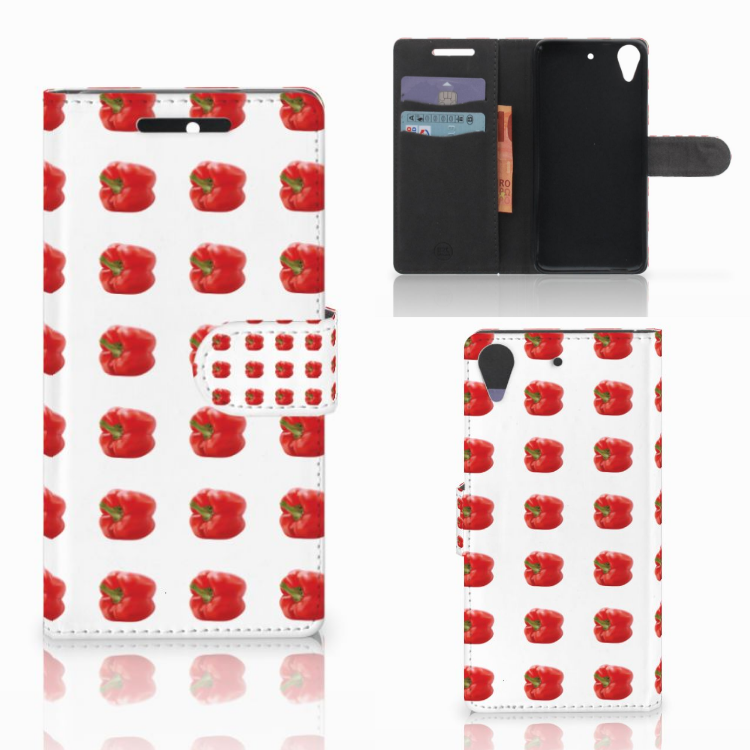 HTC Desire 628 Book Cover Paprika Red