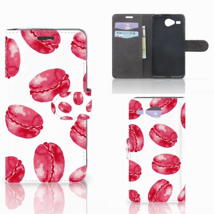 Acer Liquid Z520 Book Cover Pink Macarons