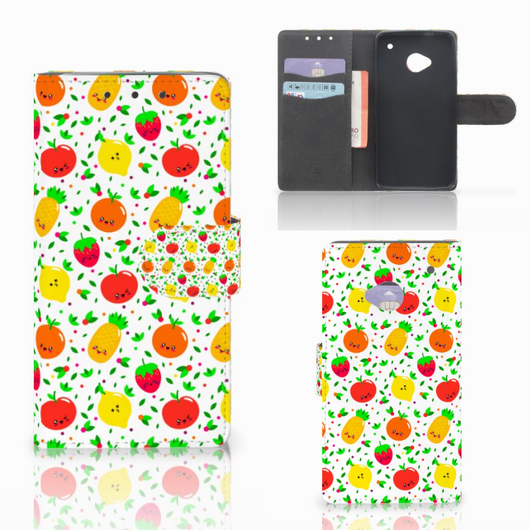 HTC One M7 Book Cover Fruits