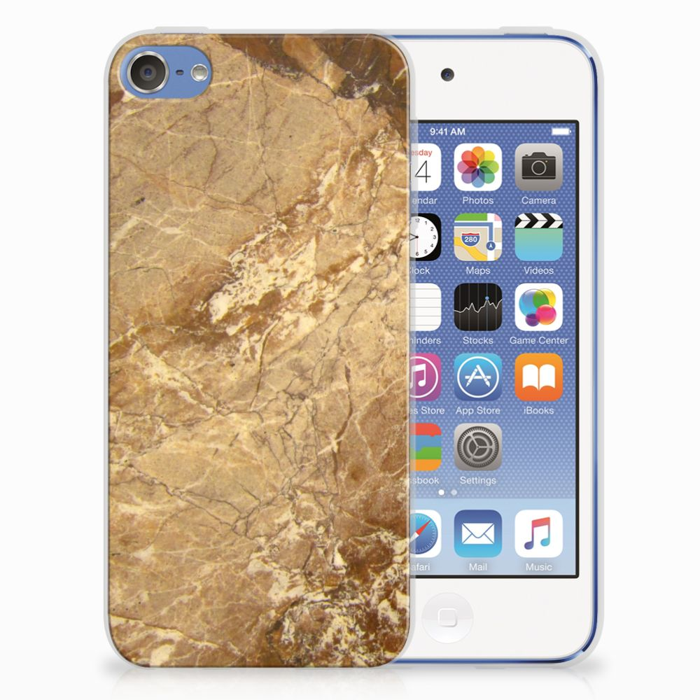 Apple iPod Touch 5 | 6 TPU Siliconen Hoesje Marmer Creme