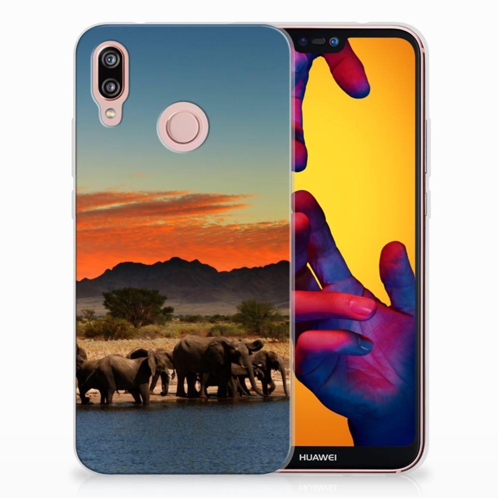 Huawei P20 Lite TPU Hoesje Design Olifanten
