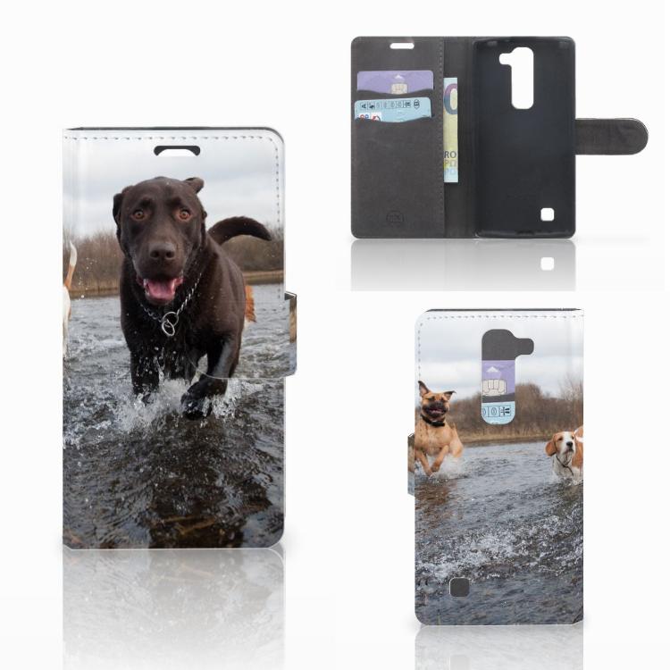 LG Magna | G4C Telefoonhoesje met Pasjes Honden Labrador