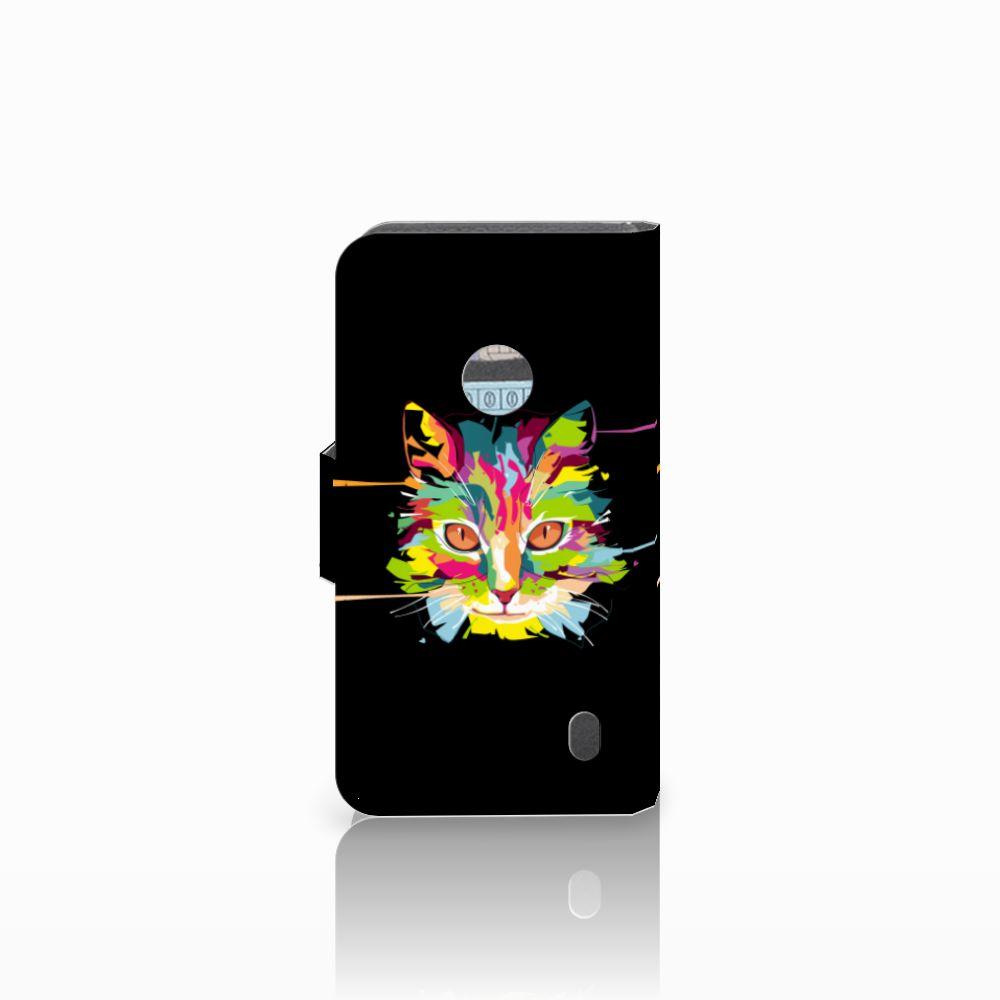 Nokia Lumia 520 Leuke Hoesje Cat Color