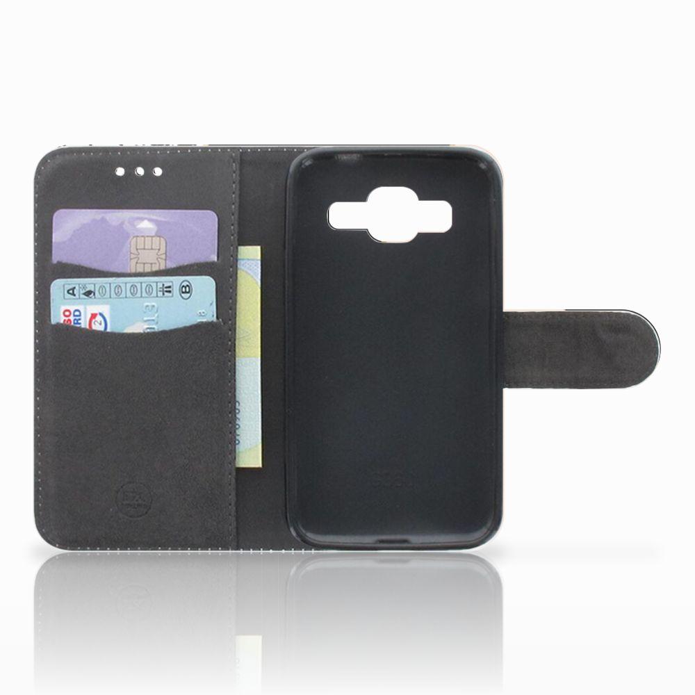 Samsung Galaxy Core Prime Bookcase Zwart Roze Vormen
