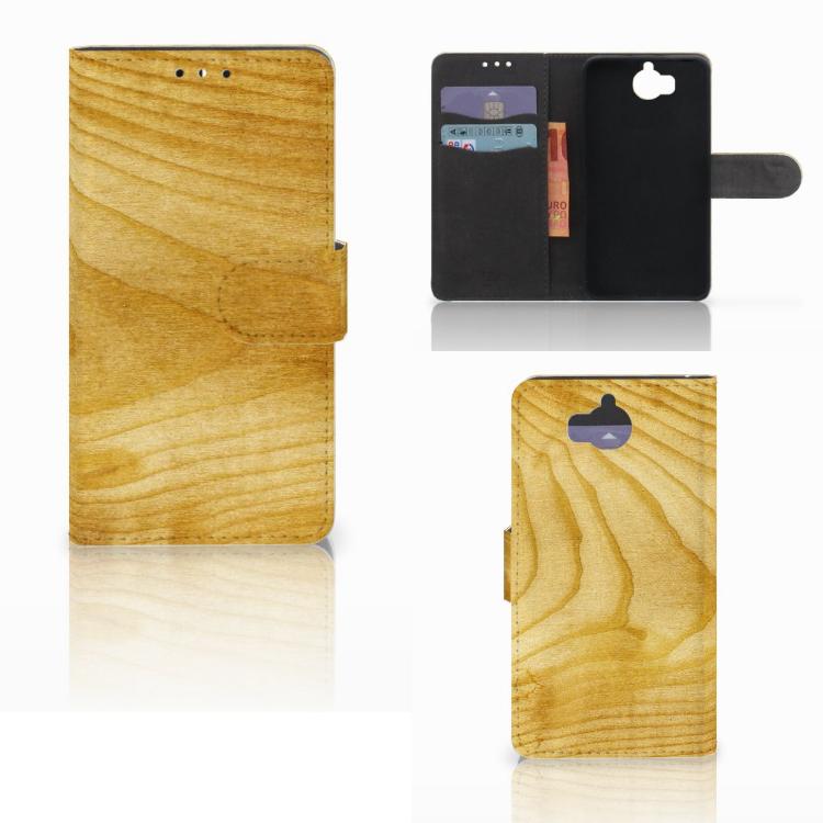 Huawei Y5 | Y6 2017 Book Style Case Licht Hout