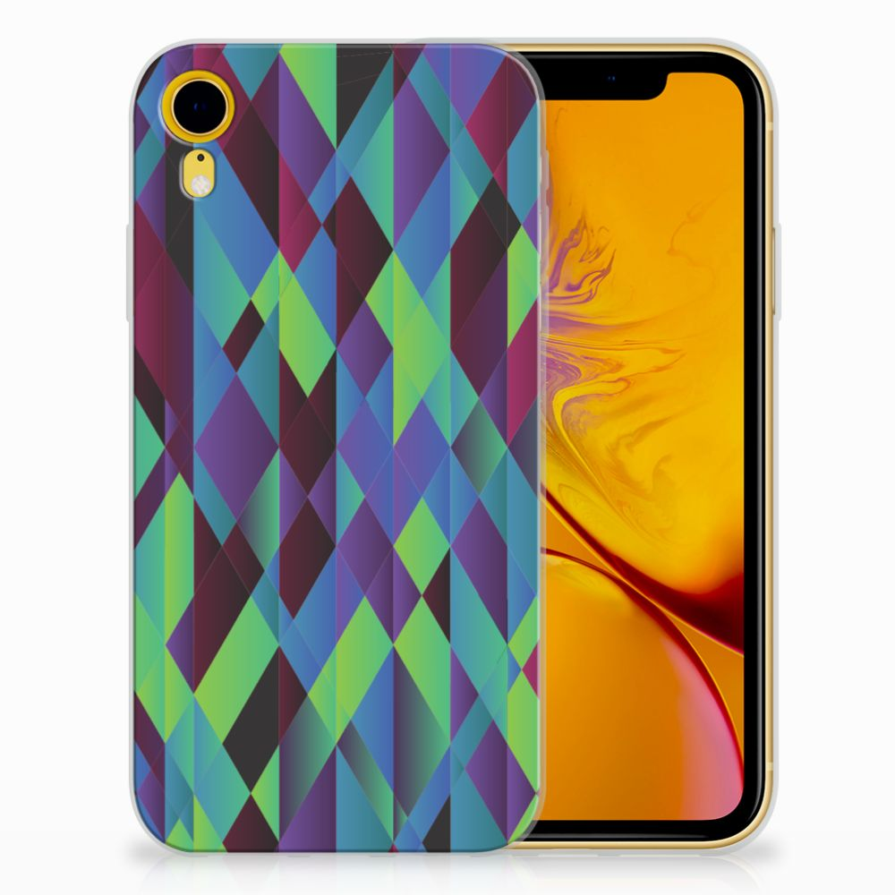 Apple iPhone Xr TPU Hoesje Abstract Green Blue