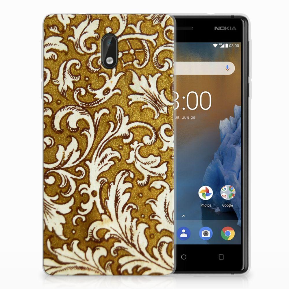 Siliconen Hoesje Nokia 3 Barok Goud