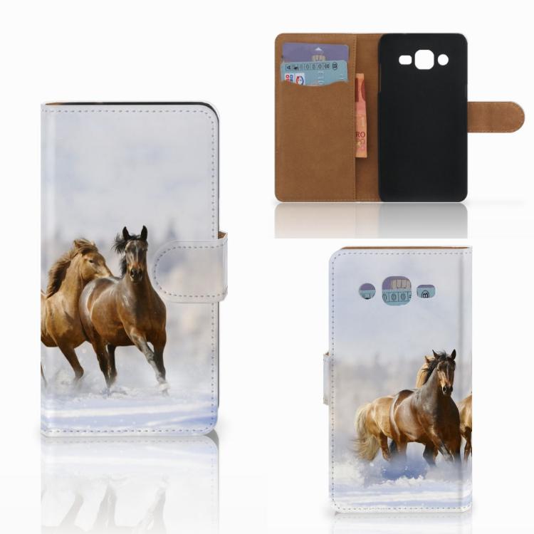 Samsung Galaxy J2 (2015) Telefoonhoesje met Pasjes Paarden
