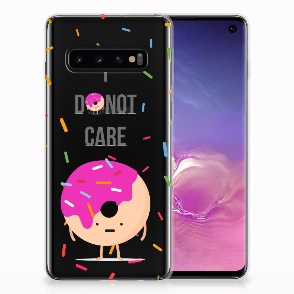 Samsung Galaxy S10 Siliconen Case Donut Roze
