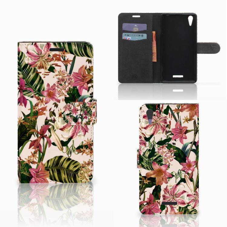 Sony Xperia T3 Hoesje Flowers