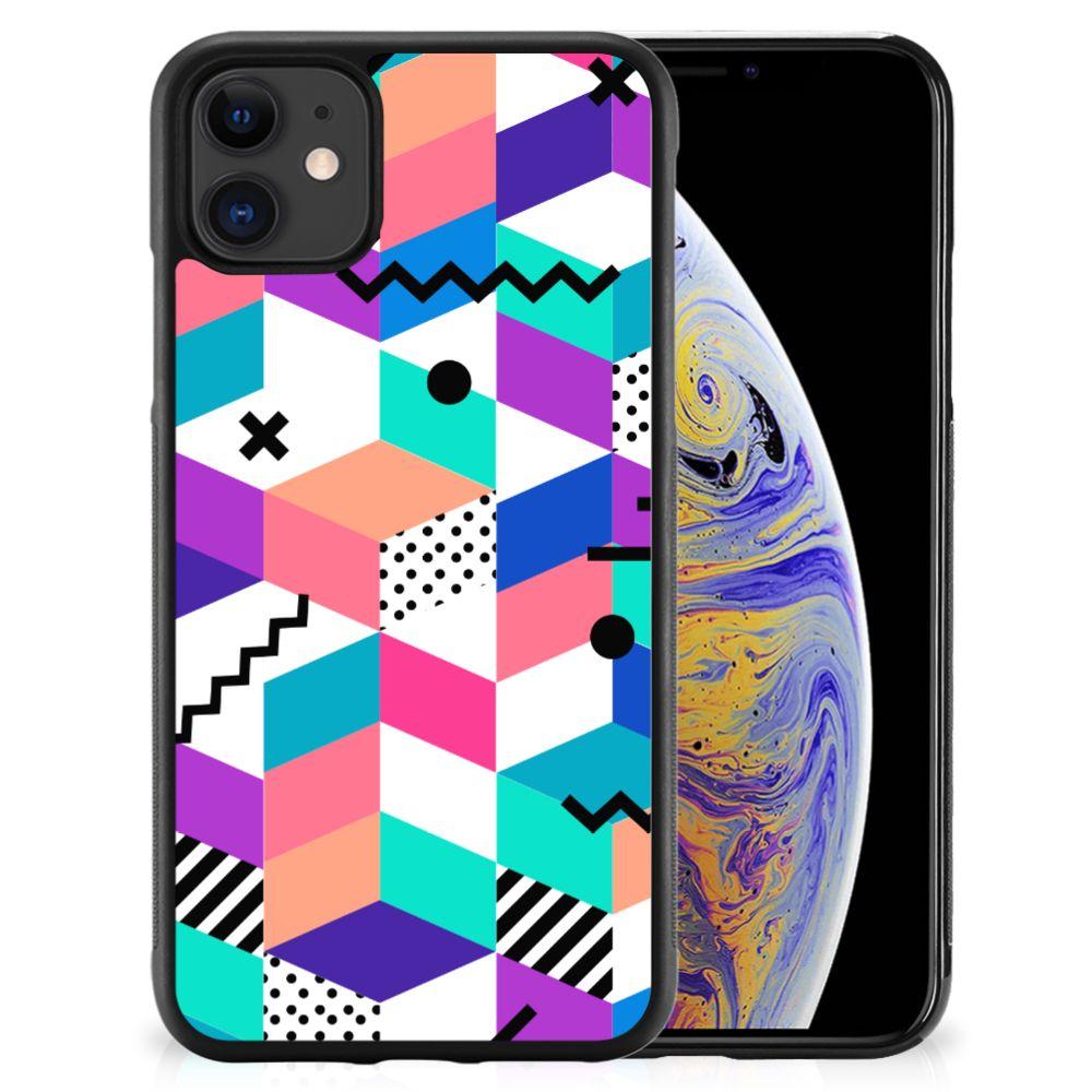 Apple iPhone 11 Grip Case Blokken Kleurrijk