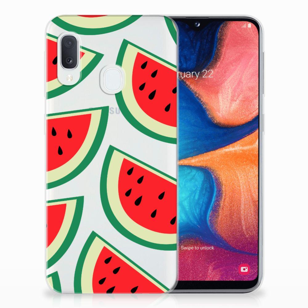 Samsung Galaxy A20e Siliconen Case Watermelons