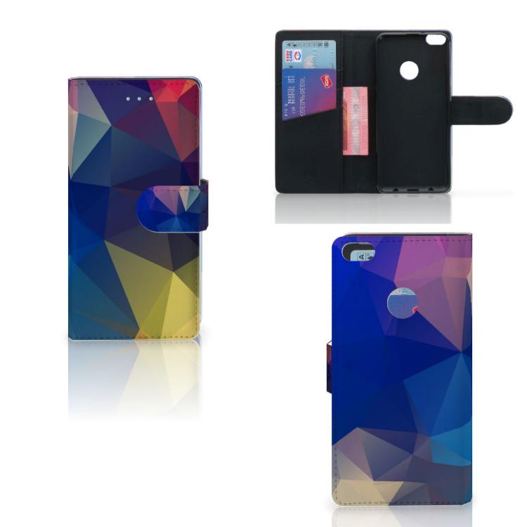 Huawei P8 Lite 2017 Bookcase Polygon Dark