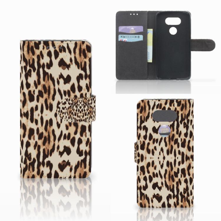 LG G5 Telefoonhoesje met Pasjes Leopard
