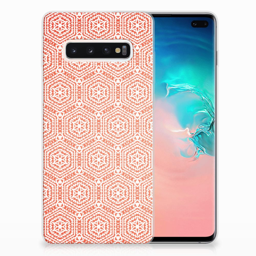 Samsung Galaxy S10 Plus TPU bumper Pattern Orange