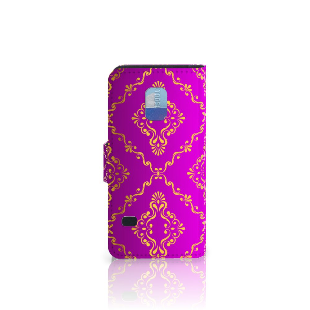 Wallet Case Samsung Galaxy S5 Mini Barok Roze