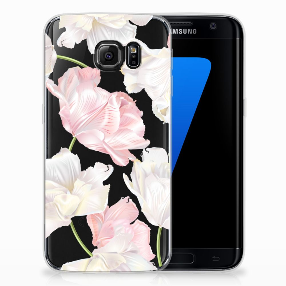 Samsung Galaxy S7 Edge TPU Hoesje Design Lovely Flowers