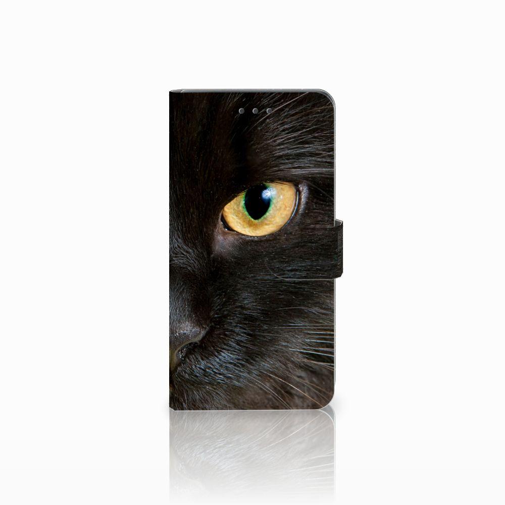 Huawei Mate 8 Uniek Boekhoesje Zwarte Kat