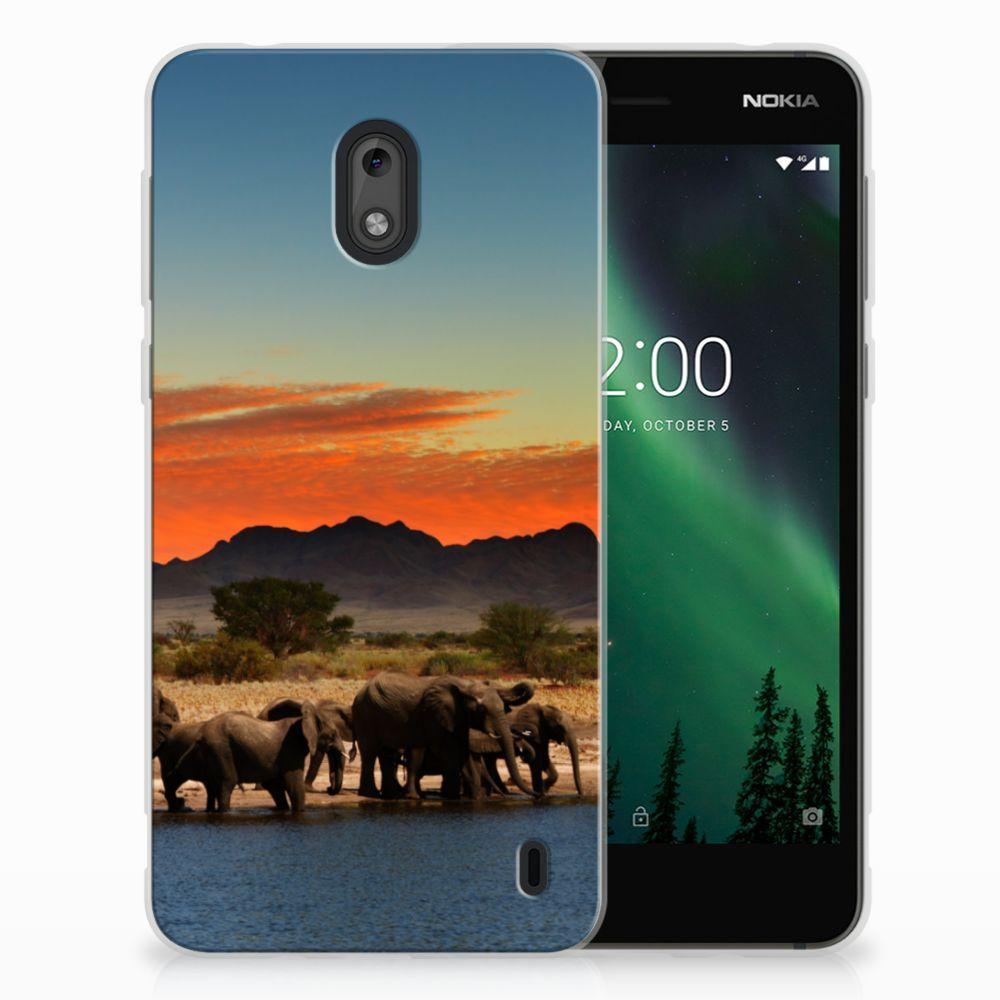 Nokia 2 TPU Hoesje Design Olifanten