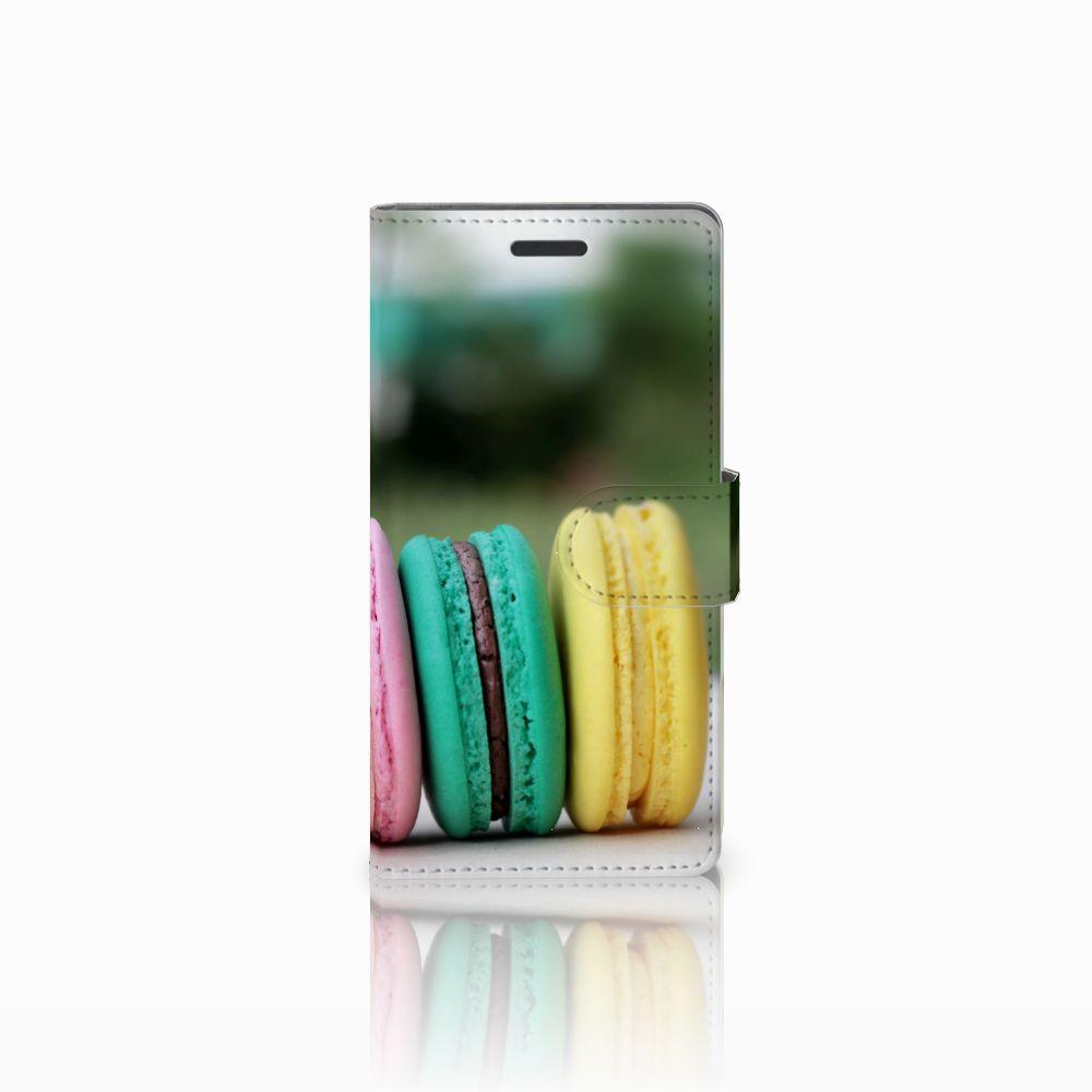 Nokia Lumia 830 Uniek Hoesje met Opbergvakjes Macarons