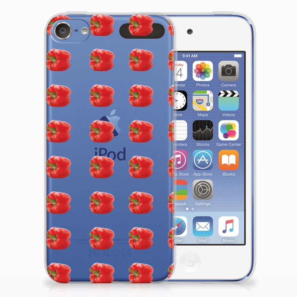 Apple iPod Touch 5 | 6 TPU Hoesje Design Paprika Red