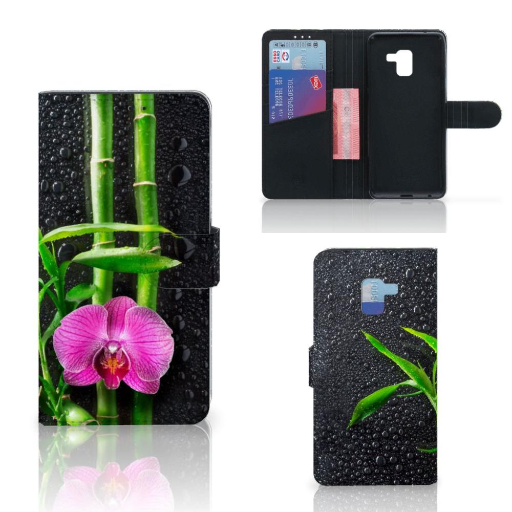 Samsung Galaxy A8 Plus (2018) Hoesje Orchidee