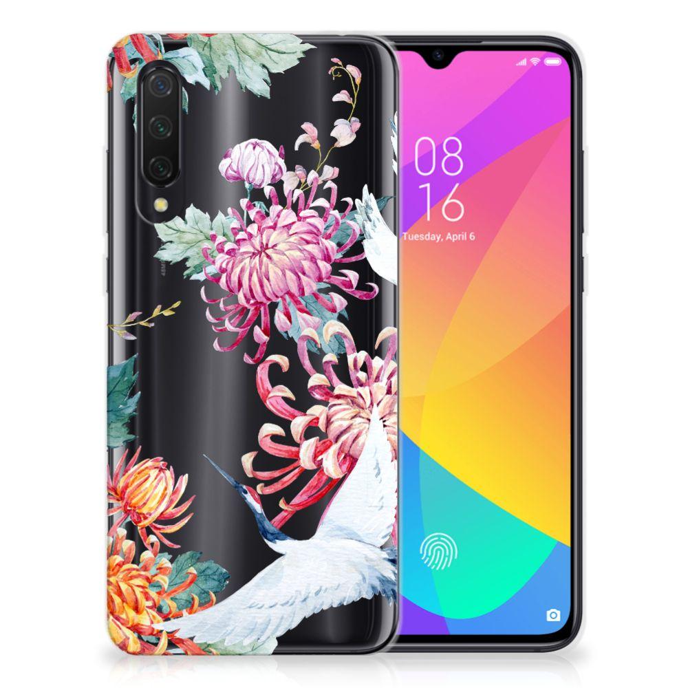 Xiaomi Mi 9 Lite TPU Hoesje Bird Flowers