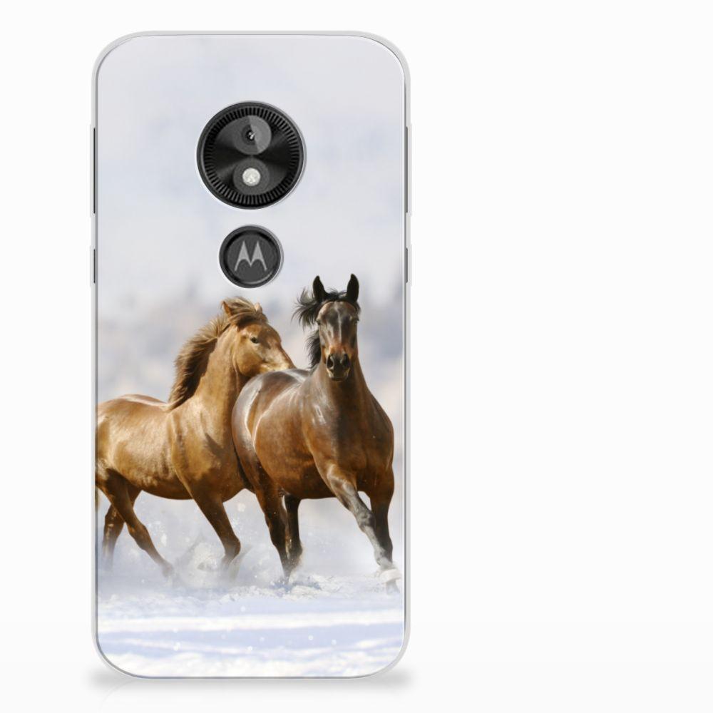Motorola Moto E5 Play Uniek TPU Hoesje Paarden
