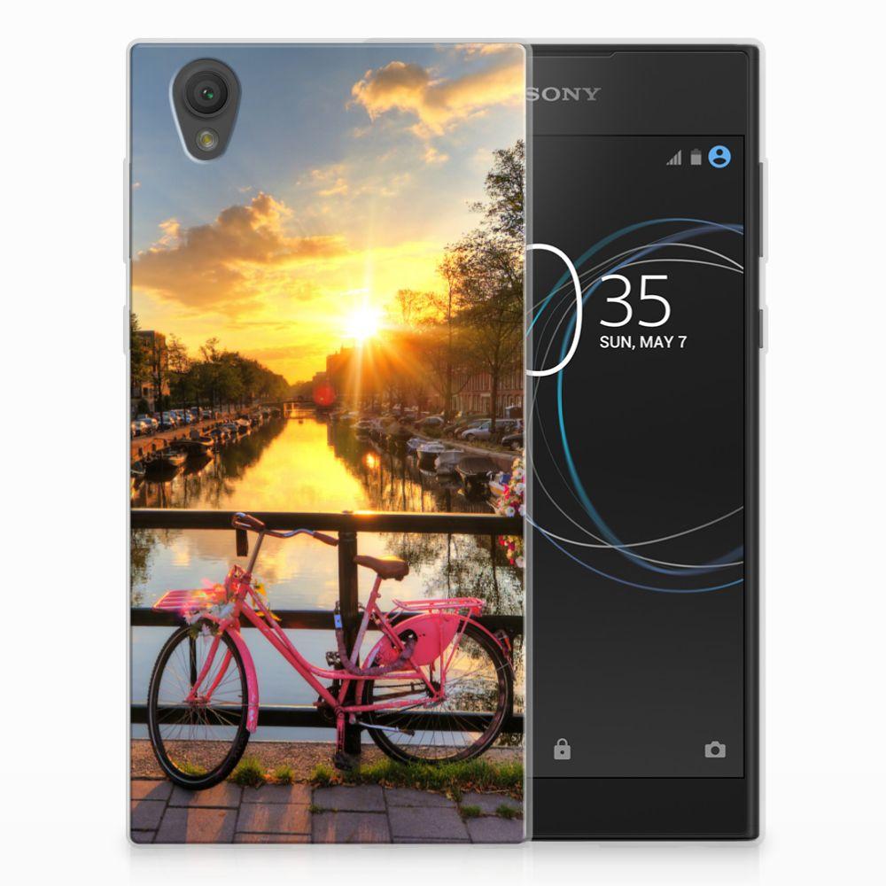 Sony Xperia L1 Uniek TPU Hoesje Amsterdamse Grachten